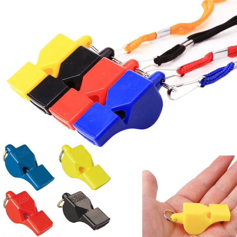 Free DHL Mini Keychains Whistle Classic Fox 40 CMG Whistle Keychain with Breakaway Lanyard Black Red Yellow Blue Outdoor gear 2019 B240S F