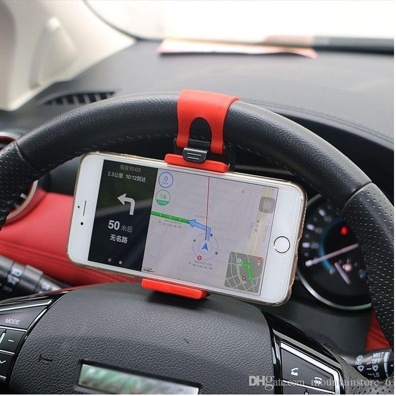 Universal-Auto-Lenkrad-Clip Halterung für iPhone 8 7 7Plus 6 6s Samsung Xiaomi Huawei Handy-GPS (Retail)
