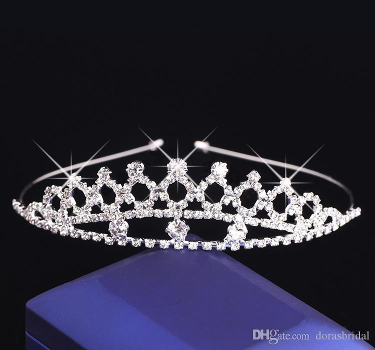Диадемы для девочек со стразами Кристаллы Аксессуары для волос Вечерний выпускной бал для театрализованного представления Диадемы и короны для девочек DB-T046