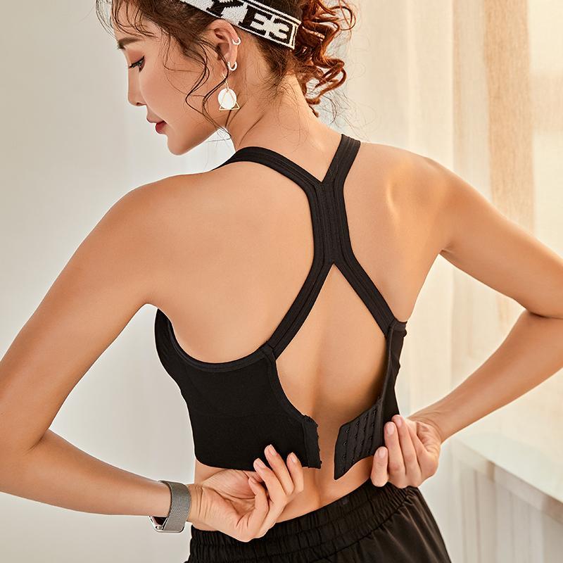 As mulheres empurram para cima desporto sem costura Braçadeira feminina Desporto de topo Fitness uso activo para Yoga Ginásio Soutiere vestuário desportivo feminino