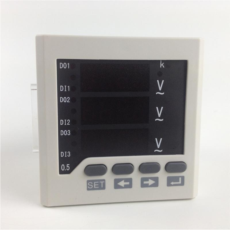 Freeshipping 3 phase Panel mounting AC Voltage meter ,0-450V ,220V power supply V meter , Digital LED display V meters