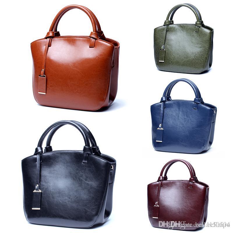 Echtes Leder Designer Totes mit Schultergurte Damen beiläufige Handtaschen Großvolumige Mittel Totes 3 Schichten innerhalb einzelner Schulterbeutel