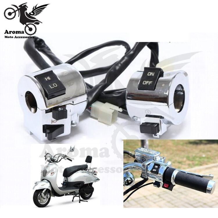 1 accoppiamento interruttore nastro motociclo 25 millimetri universale 1 '' moto manubrio Controllo pulsante Interruttore fari accendere la luce di segnale Horn