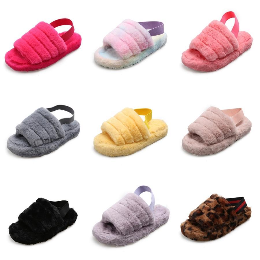 2020 Nuevos niños zapatillas de Corea suave del agua inferior Taladro antipatinaje punta abierta de la sandalia cómoda de deslizamiento de desgaste no resistentes chicas Zapatillas # 199