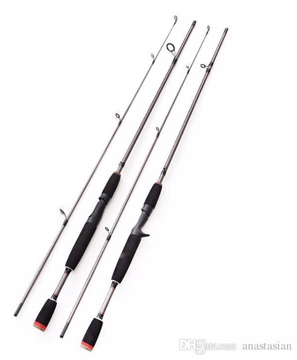 Nouveau 1.8 m 2 Segments canne à pêche M Power line wt.6-15lb leurre wt.1 / 8-3 / 4oz Carbone Spinning Casting Lure Pêche Rodv livraison gratuite