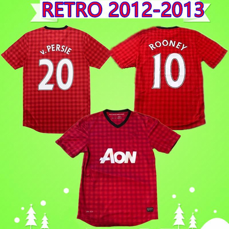 2012 OWEN bağbozumu v.Persie ROONEY Giggs MAN UTD RETRO futbol formaları 2013 formalarını Berbatov NANI camiseta united Chicharito Maillot