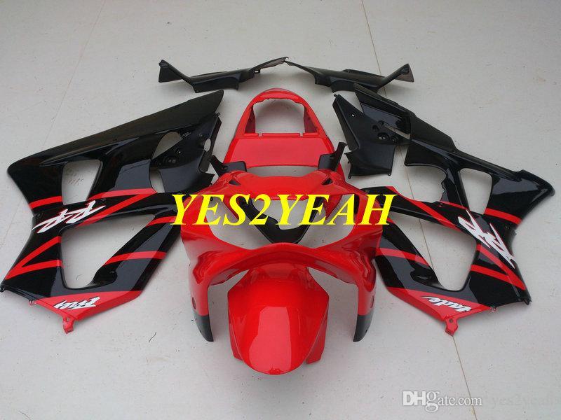 Injection Fairing body kit for Honda CBR900RR 929 00 01 CBR 900RR CBR900 RR 2000 2001 Red black Fairings Bodyowrk+Gifts HZ44