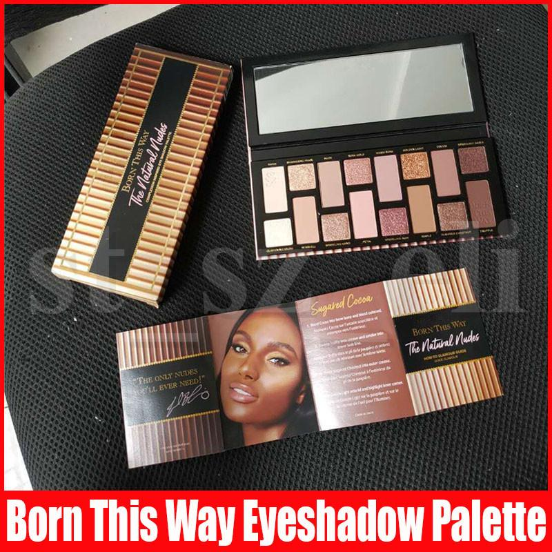 New Eye Makeup Born This Way Eye Shadow the Natural Nudes Glitter 16 Colors Eye Shadow Shimmer Matte Eyeshadow Palettes