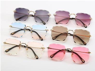 Marco de calidad superior cuadrados de vidrio de la lente Las gafas de sol de recubrimiento manera del verano del gradiente de conducción gafas de sol de la vendimia con la caja