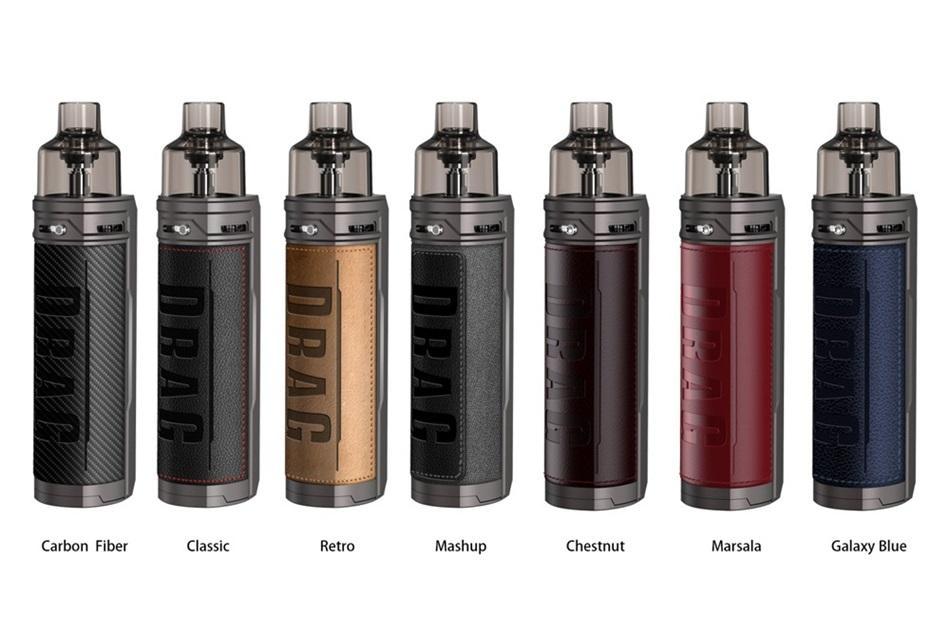 US Warehouse VOOPOO Drag X Vape Pod Kits e cigarettes 80W 18650 Battery Chip Mod 4.5ml Innovative Tank 100% Original