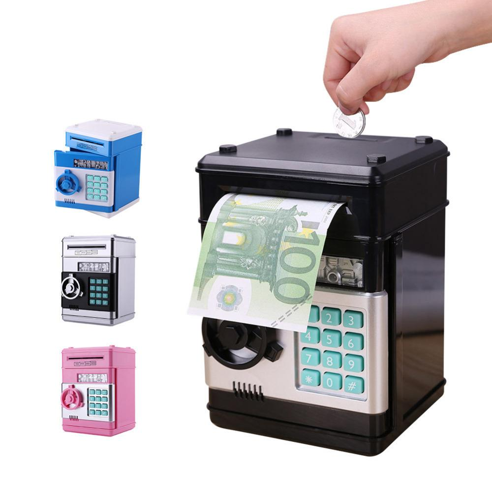 Electronic Piggy Bank Safe Box Money Boxes for Children Digital Coins Cash Saving Safe Deposit ATM Machine Kid Christmas Gift C18122201