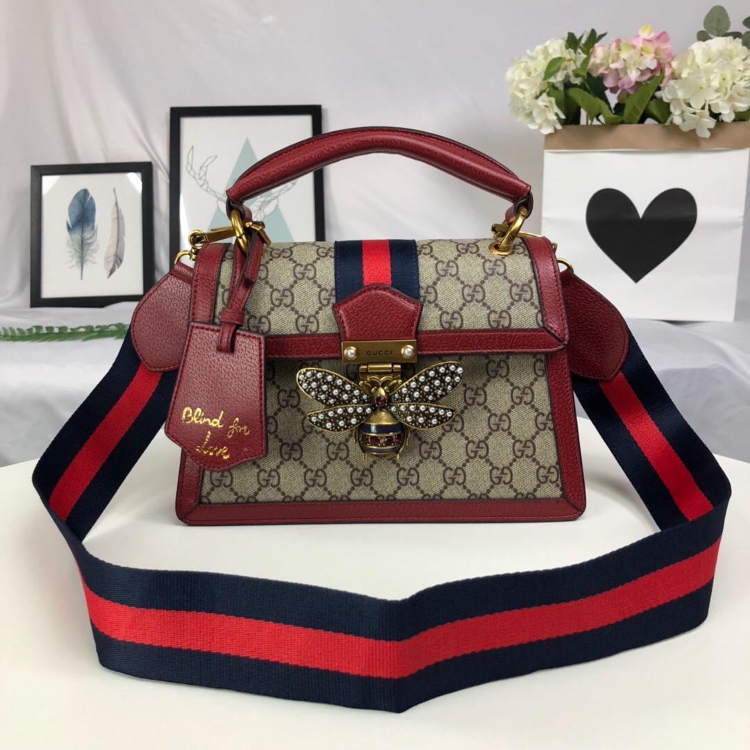 Frauen Taschen Mode Handtasche rot Bee Messenger Bag Fashion Schultertasche Handtasche der Frauen Art und Weise mit Kasten Verschiffen