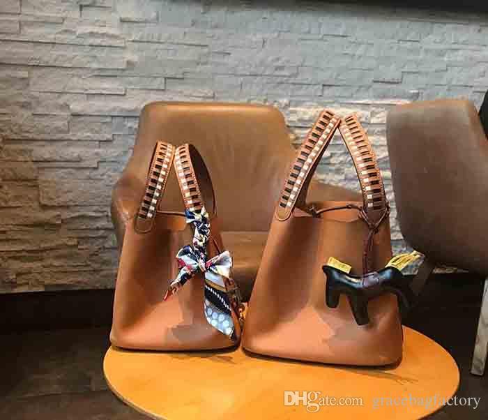 Yeni klasik buket çanta kadın handbags'in kayış omuz çantaları, mini Gerçek Deri alışveriş torbaları picotin atı kolye ile küçük çanta torbaları kilitlemek