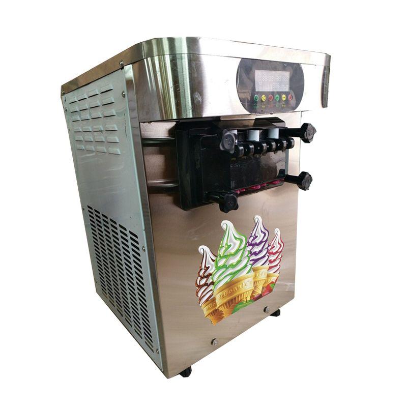 Trois arômes Crème glacée machine à glace automatique Machine à crème glacée petite machine à crème glacée douce 220V / 110V