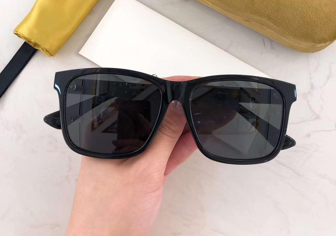 0746 Nero / Grigio Occhiali da sole quadrati des lunettes de soleil mens occhiali da sole Moda Occhiali di nuovo con scatola