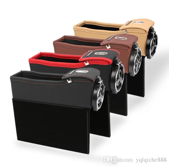 2020 new Car water cup holder seat storage box, seam slot receptacle box for car seats