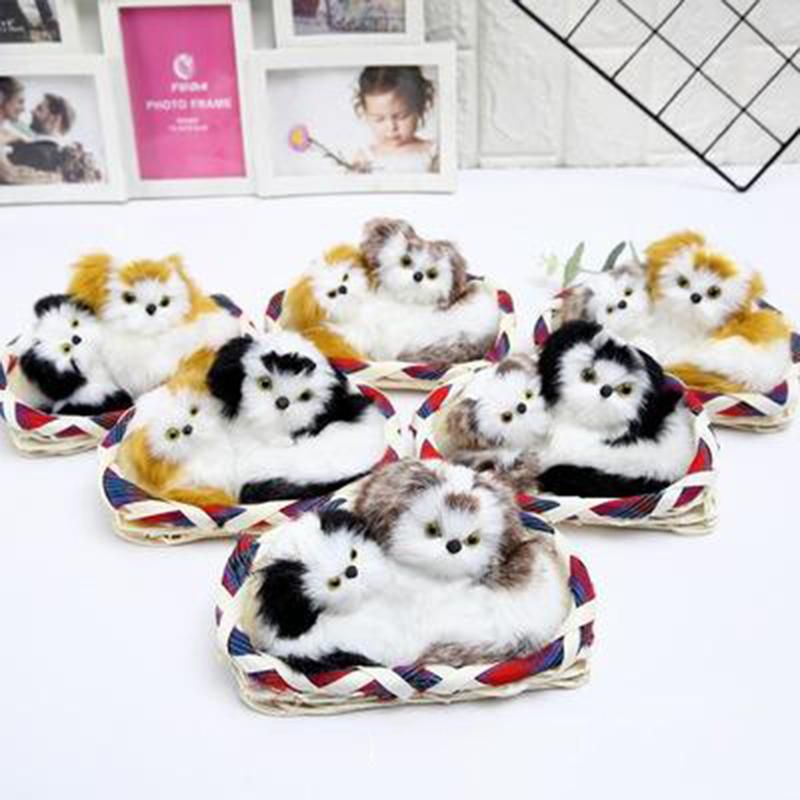 Simulación felpa dos perros relleno muñeca Animal emitir sonidos modelo de la decoración de escritorio Kids Party regalo de los juguetes