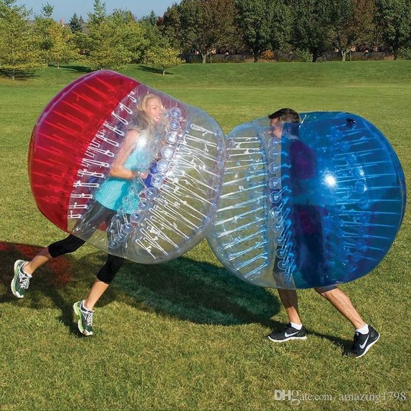 1.5m Atacado bolha inflável Humano bola de futebol inflável Bumper Ball inflável Zorb Bubble Ball Futebol frete grátis