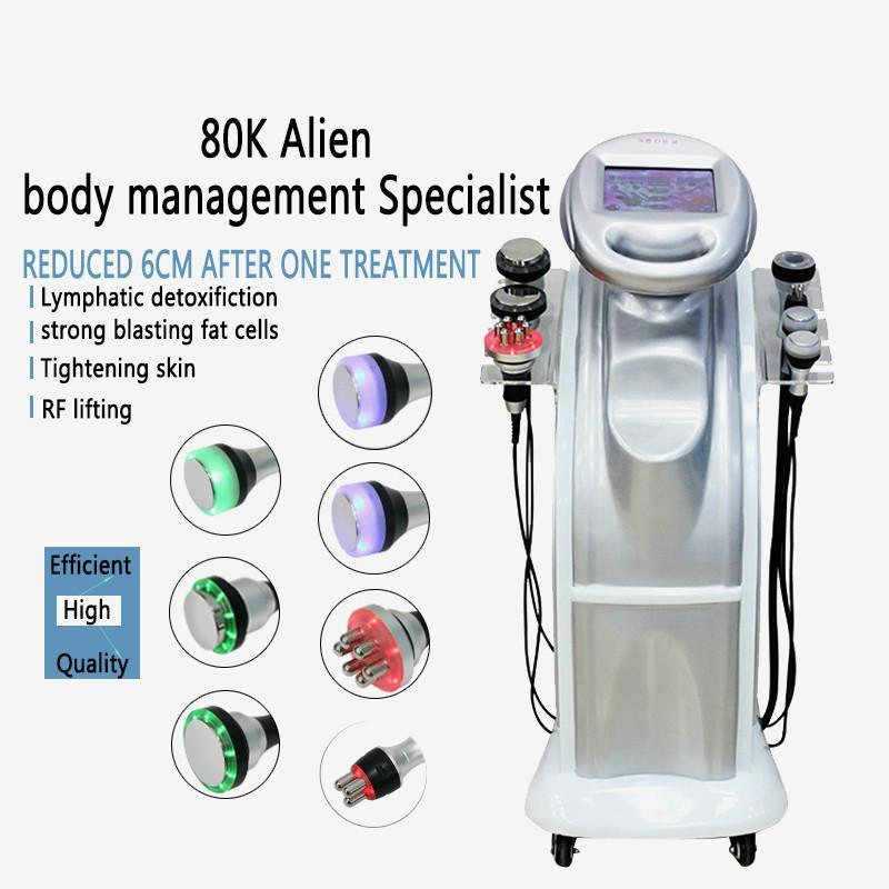 2020 горячие продажи 7 IN1 80k кавитация + 40k вакуумная кавитационная система ультразвук tripolar sixpolar body slimming machine для продажи