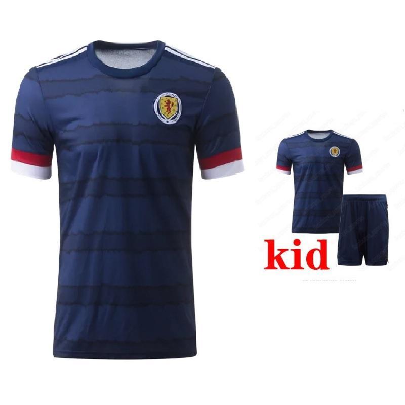 2020 SCOTLAND كرة القدم البلوزات منزل BOBERTSON FRASER ARMSTRONG 18 BURKE 9 CcGREGOR 10 فورست 7 19 20 KIDS الطفل قميص جرسي كرة قدم