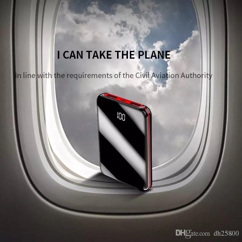 Cargador del banco Pover mini portátil de 30000 mAh banco de la energía del teléfono móvil Todo banco 2 puertos USB batería externa envío