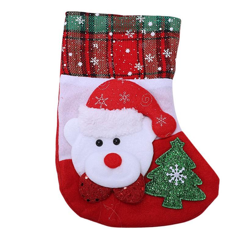 Santa Bonhomme De Neige Pendentif Ornements De Noël Nouvel An Chaussettes Décorations De Noël pour La Maison Merry Tree Décorations Navid
