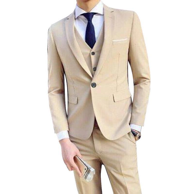 MoneRffi Suit + Vest + Pant 3 Pieces 5xl Mens Social Suits Thin Fashion Solid Wedding Suits Male Formal Business Casual