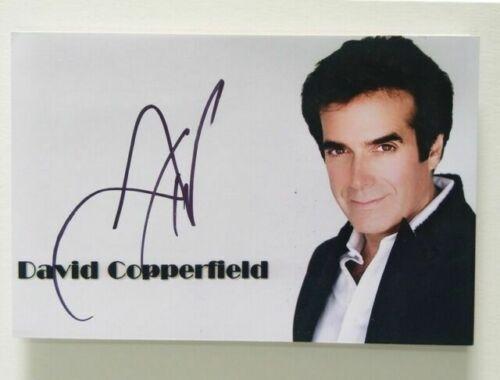 Photo dédicacée de maître magique de classe mondiale David Copperfield 10 x15cm