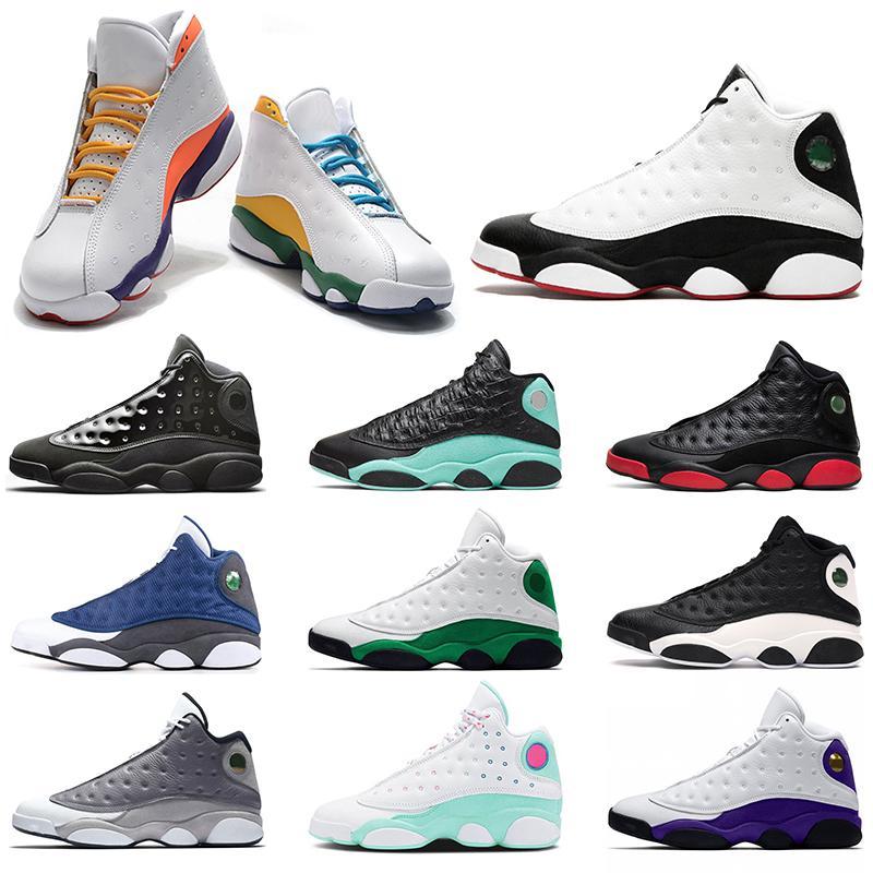Mens caliente zapatos de baloncesto de Jumpman 13 Flint 13s Isla Verde Bred Tamaño inversa Una mala jugada Hombres Mujeres Deportes zapatillas de deporte 36-47