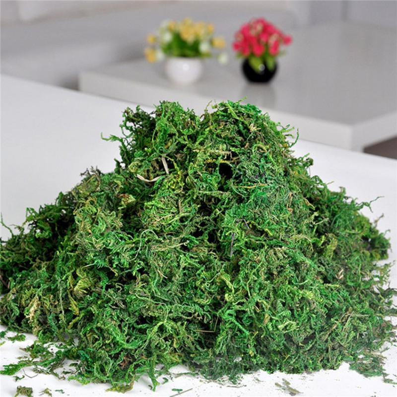 Decorations Artificial Plants Promotion!!FAKE Artificial Dried Reindeer Moss for Flowers Grass Basket Plant Home Garden Garland Wedding P...