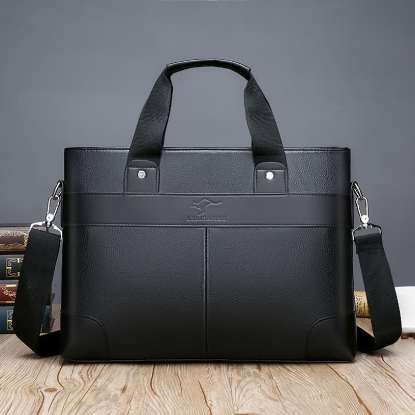 Дизайнер Деловые сумки Casual PU кожи мужские Сумка Vintage Мужская сумка Crossbody Bolsas черный коричневый ноутбук сумка # d5g1