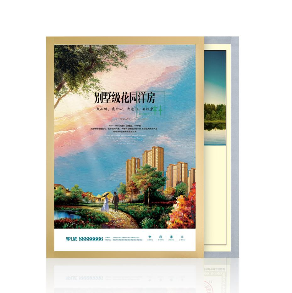 A4 210*297mm Magnetic Poster Frame Polish Announcement Adhesive Wall Label Sign Banner Poster Frame Label Holder Photo Frame