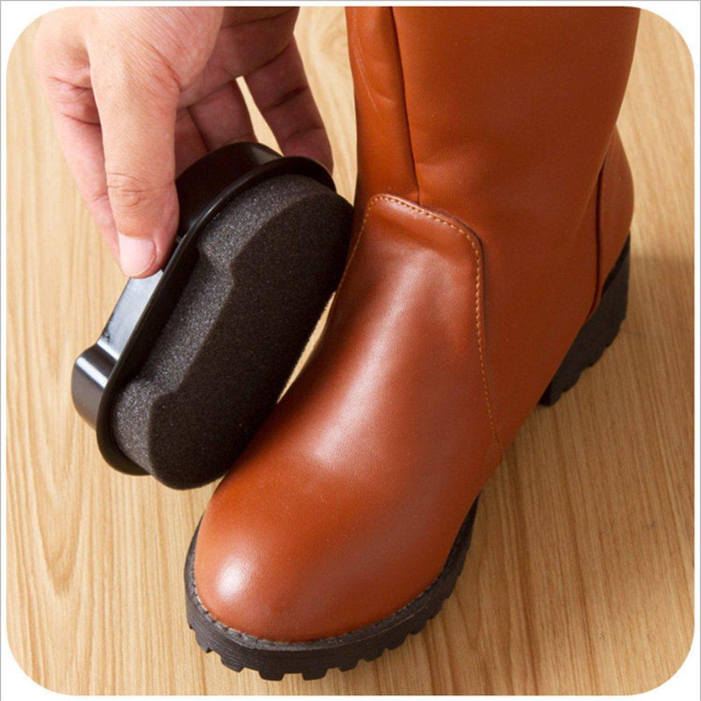 Portable Artefatto due lati Wipe Scarpe rapidi Rub colori fronte scarpe polacco lustro pennello spugna
