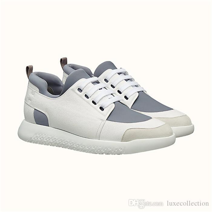 Sneaker classica da uomo in canvas tecnico e vitello Epsom con lacci fissi per indossare slip-on