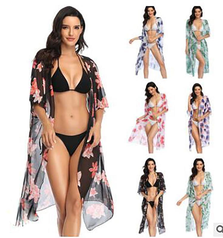 Romexp Bikini 2020 Ladies Loose Sunscreen Veil Cover Sexy Hot Selling Beach Skirt One Size Pool Thong Bikini Set