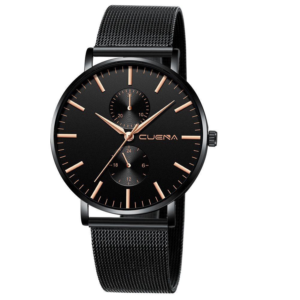 1Relogio Masculino Men's Date Stainless Steel Analog Quartz Wrist 30m Waterproof Men Watch Clock Montre De Marque