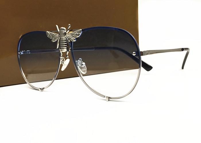 Commercio all'ingrosso Italia-lusso 2238 degli occhiali da sole donne degli uomini di marca del progettista di modo popolare stile estivo wites di alta qualità Protezione UV Lens con la scatola