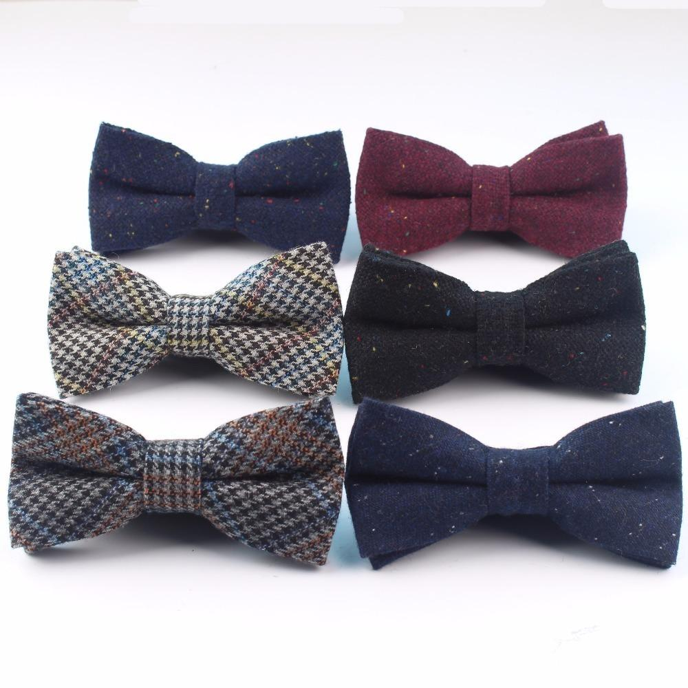 Mens Cotton Formal Roupa laços do casamento do homem Geometric Dot Neck Bowties escuro bowknot borboleta gravata borboleta colorida