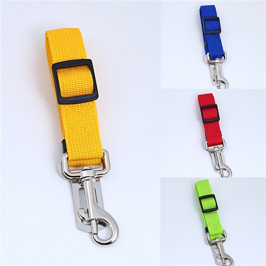 Assento Dog Segurança Pet Cinto de segurança para veículo automóvel cinto ajustável sólidos reflexivos Arnês trelas 4 cores # 502