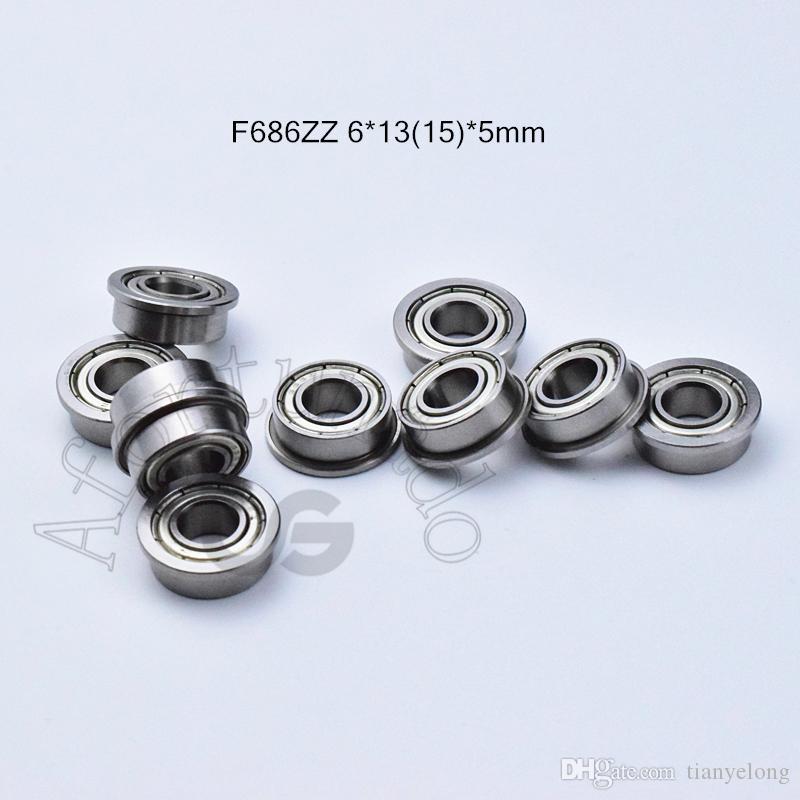 F686ZZ rolamentos de flange 686 F686Z F686ZZ 6 * rolamento de aço cromo 1315 * 5 milímetros