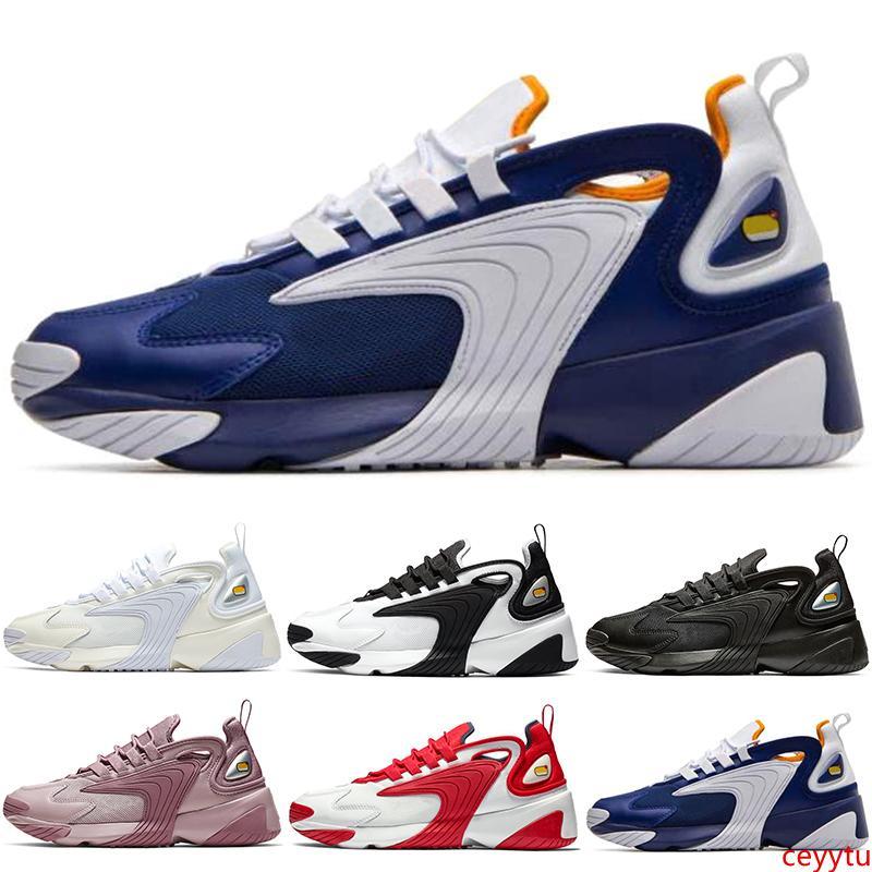2020 t M2k Tekno Zoom 2K Hommes Femmes Chaussures Triple Noir blanc crème Race Rouge Bleu Royal entraîneur des hommes Sneakers 36-45 Vente en ligne