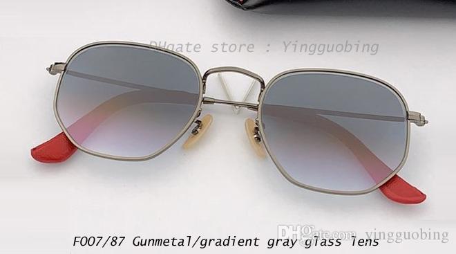Top Dimensione Donne Designer Glasses Women Hexagonal 51mm Lente piatta Specchio Specchio Occhiali da sole Occhiali da sole Uomini Gafas de Fashion Sol UV400 Prezzo di fabbrica UVea