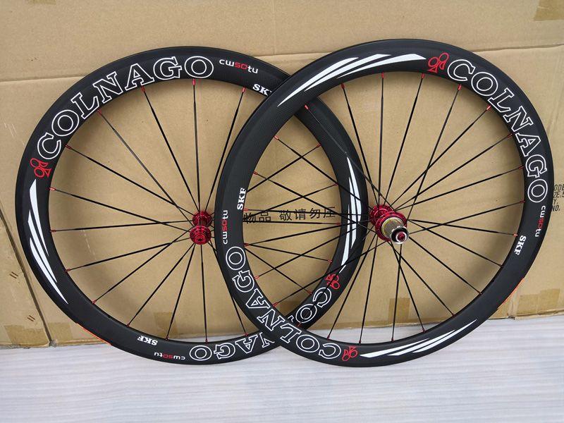 عجلات جديدة T1000 الكربون العجلات الدراجة الطريق 50MM عمق عجلات الفاصلة أنبوبي الطريق عجلات الكربون البازلت الكبح Colnago ل