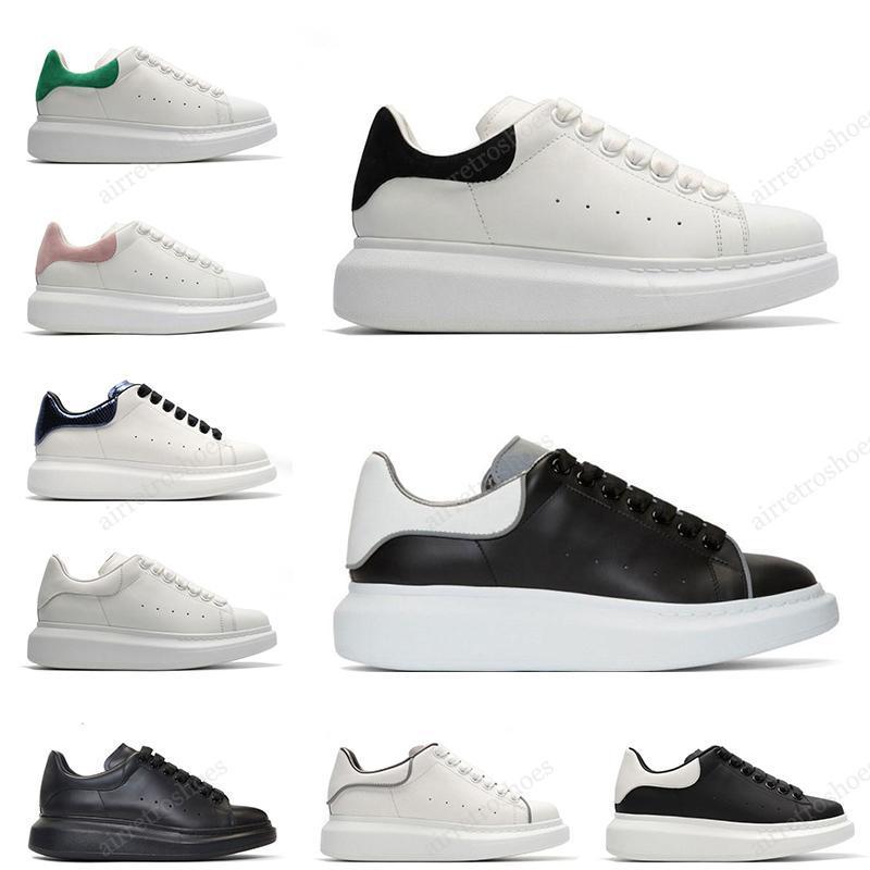 2020 de luxe de la plate-forme Hommes Femmes suède en cuir blanc chaussures mode casual blanc noir hommes des chaussures Zapato taille 36-44