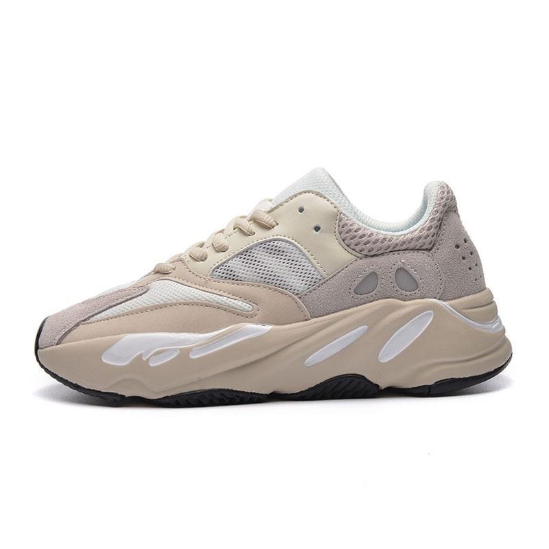 Nuevo 700 malva zapatos corrientes de la mejor calidad para hombre del corredor de la onda 700 Kanye West diseñador zapatillas de deporte para mujer de la marca Boots Us5.5-11 A01 # QA627