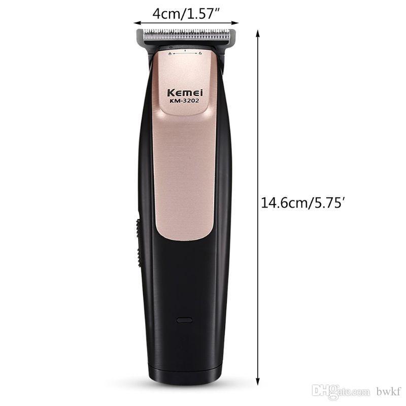 Kemei KM - 3202 USB aufladbare elektrische Haar-Scherer-Trimmer für Styling bester männlicher pube Trimmer bwkf tqXHS