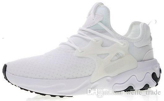 2019 Presto Reagir ar sigla Mid Reagir Mens Running Shoes malha respirável Triplo Preto brancas sapatilhas cestas des chaussures