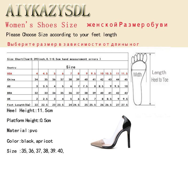 Großhandel Kleid Aiykazysdl Damen Pumps Spitzschuh Pvc Transparent Klar Kristall High Heels Patchwork Slip On Gericht Fetisch Kleid Schuhe Stilettos