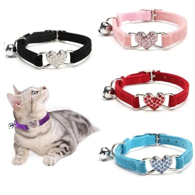 Cat Collars With Bell For Cats Kitten Puppy Leash Collar Dog Chihuahua Pet-Collars Leashes Lead Pets Apparel Supplies Pet Necklace