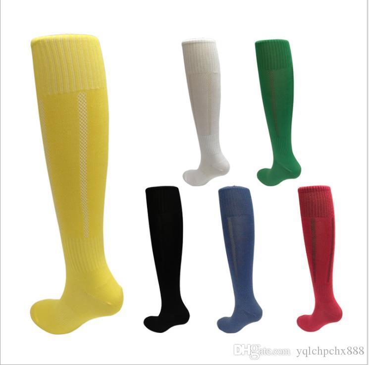 Adultos de esportes de futebol meias meias meias de futebol ao longo dos meias do joelho